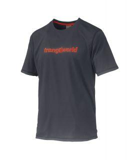 Camiseta Trangoworld Omiz DT Hombre Antracita Naranja