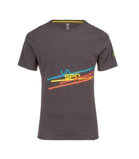 Camiseta La Sportiva Stripe 2.0 Hombre Carbon. Oferta y Comprar online