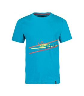 Camiseta La Sportiva Stripe 2.0 Hombre Azul. Oferta y Comprar online