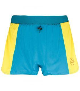 Pantalones La Sportiva Auster Hombre Azul Amarillo