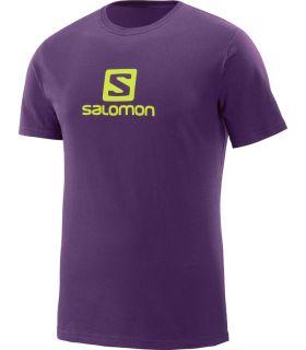 Camiseta Salomon Coton Logo SS Tee Hombre Morado