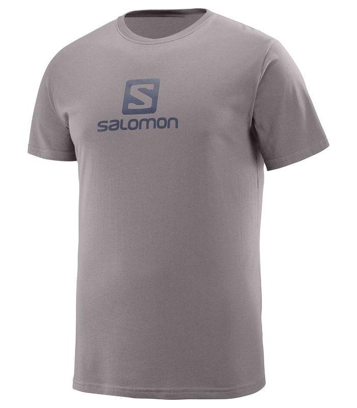 Compra online Camiseta Salomon Coton Logo SS Tee Hombre Marron en oferta al mejor precio
