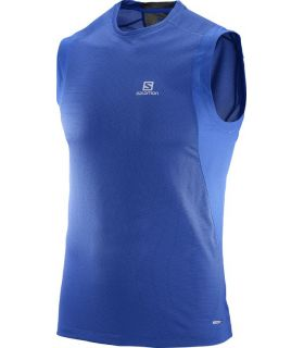 Camiseta Salomon Trail Runner Sleeveless Hombre Azul