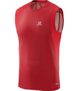 Camiseta Salomon Trail Runner Sleeveless Hombre Rojo