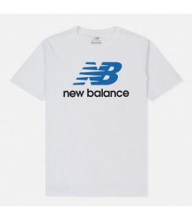 Camiseta New Balance Essentials Stacked Logo Tee Hombre Blanco