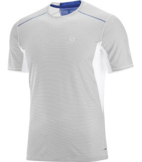 Camiseta Salomon MC Trail Runner SS Hombre Blanco