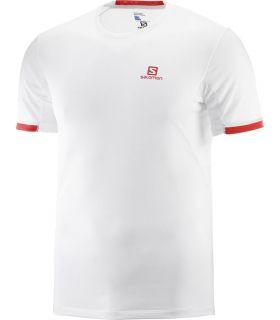 Camiseta Salomon Agile + SS Hombre Blanco
