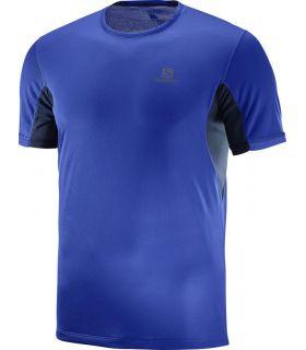 Camiseta Salomon Agile + SS Hombre Azul. Oferta y Comprar online