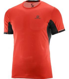 Camiseta Salomon Agile + SS Hombre Rojo