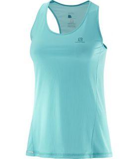 Camiseta Salomon Agile Tank Mujer Azul