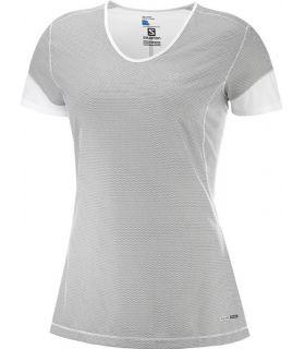Camiseta Salomon MC Trail Runner SS Mujer Gris