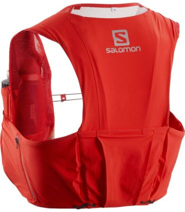 Mochila trail running Salomon S-Lab Sense Ultra 8 Set Rojo