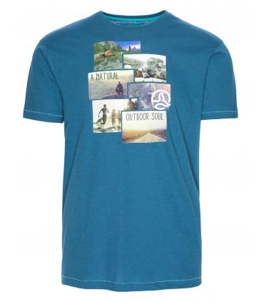 Camiseta Ternua Windgap Hombre Azul