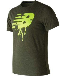 Camiseta New Balance Heather Tech Tee Hombre Verde Oscuro