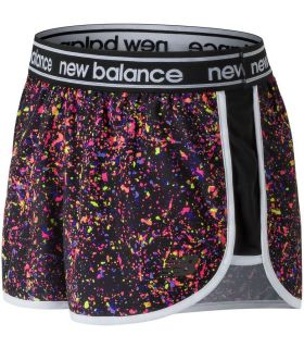 Shorts New Balance Printed Accelerate 2.5 Inch Mujer Negro Multi