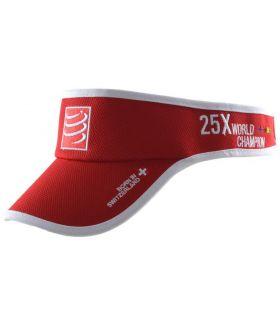 Visera Running Compressport Visor Cap Rojo. Oferta y Comprar online
