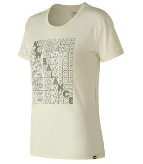Camiseta New Balance Essentials Bodega Tee Mujer Angora. Oferta y Comprar online