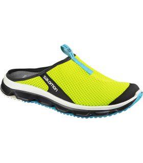 Zapatillas Descanso Salomon Rx Slide 3.0 Hombre Lima Azul. Oferta y Comprar online
