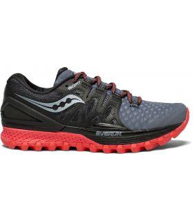Zapatillas Saucony Xodus ISO 2 Mujer Gris Negro Rojo