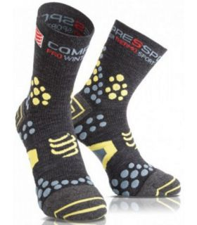 Calcetines Compressport Winter Trail Unisex Gris