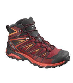 Botas de montaña Salomon X Ultra 3 Mid GTX Hombre Rojo. Oferta y Comprar online