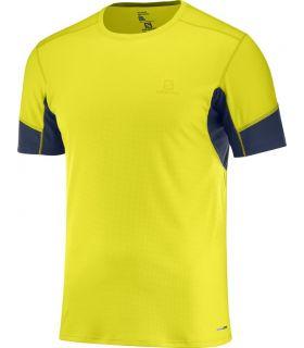 Camiseta running Salomon Agile SS Hombre Sulphur. Oferta y Comprar online