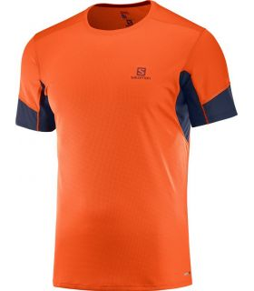 Camiseta running Salomon Agile SS Hombre Naranja Scarlet. Oferta y Comprar online