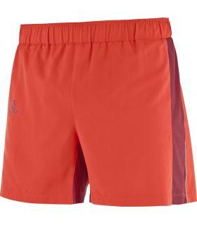 Pantalones running Salomon Agile Short Hombre Rojo