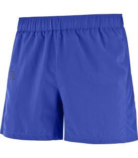 Pantalones running Salomon Agile Short Hombre Azul