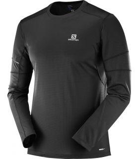 Camiseta running Salomon Agile LS Hombre Negro. Oferta y Comprar online