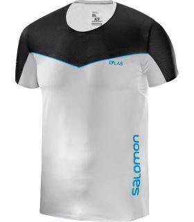 Camiseta Salomon S-Lab Sense Tee Hombre Blanco Negro