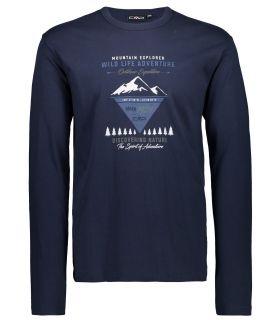 Camiseta Campagnolo 38U3177 Hombre Negro Azul