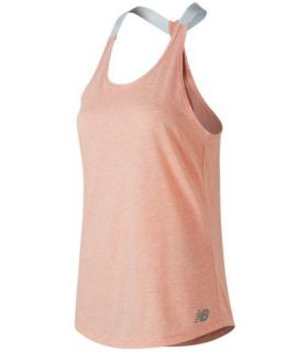 Camiseta New Balance Heather Tech Tank Mujer Coral