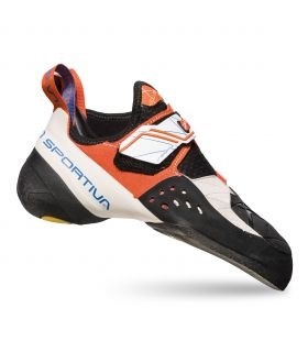 Pies de gato La Sportiva Solution mujer White-Lily Orange. Oferta y Comprar online