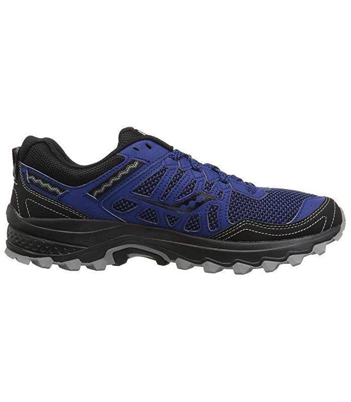 Compra online Zapatillas Saucony Excursion TR12 Hombre Negro Azul en oferta al mejor precio