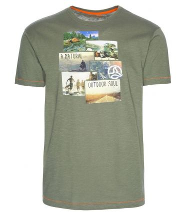 Camiseta Ternua Windgap Hombre Kaki