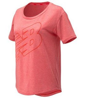 Camiseta New Balance Graphic Heather Tech Tee Mujer Llama