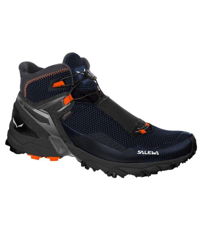Compra online Botas de montaña Salewa MS Ultra Flex Mid GTX Hombre Negro Naranja en oferta al mejor precio