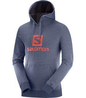 Sudadera Salomon Logo Hoodie Hombre Azul Oscuro