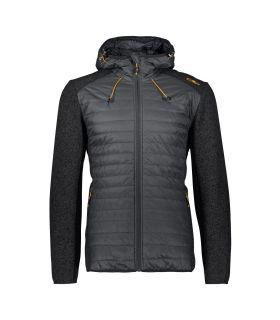 Chaqueta Campagnolo Jacket Hybrid Hood 38H1477 Hombre Antracita