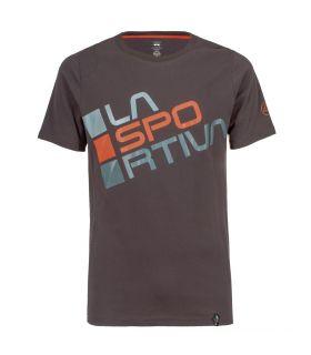 Camiseta La Sportiva Stripe 2.0 Hombre Carbon Naranja. Oferta y Comprar online