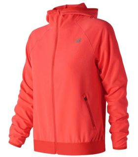 Chaqueta New Balance Accelerate Track Mujer Coral