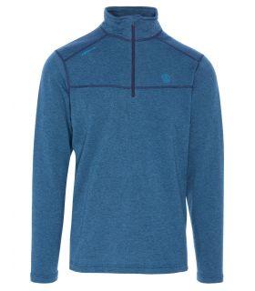 Camiseta Ternua Talok 1/2 Zip Hombre Azul. Oferta y Comprar online