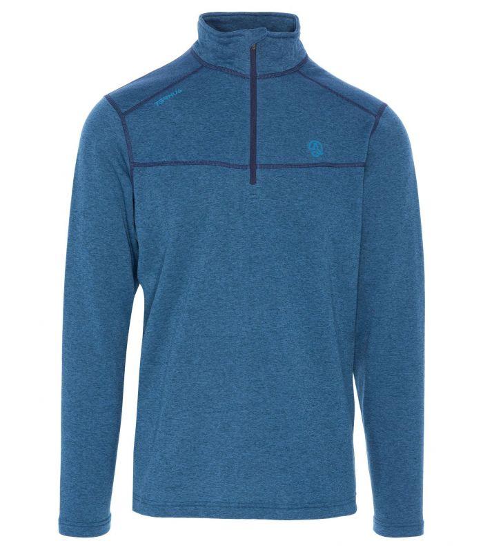 Compra online Camiseta Ternua Talok 1/2 Zip Hombre Azul en oferta al mejor precio