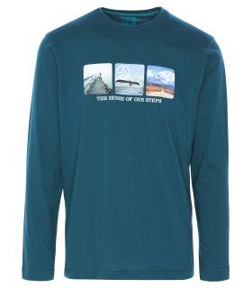 Camiseta Ternua Kitrop Hombre Azul