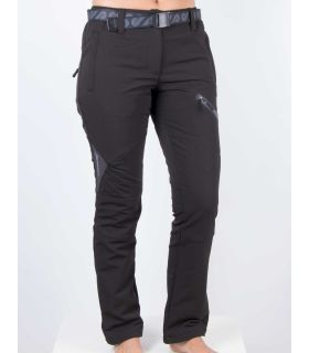 Pantalones Breezy Coromell Mujer Negro Gris