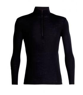 Camiseta IceBreaker 175 Ed LS Half Zip Hombre Negro. Oferta y Comprar online