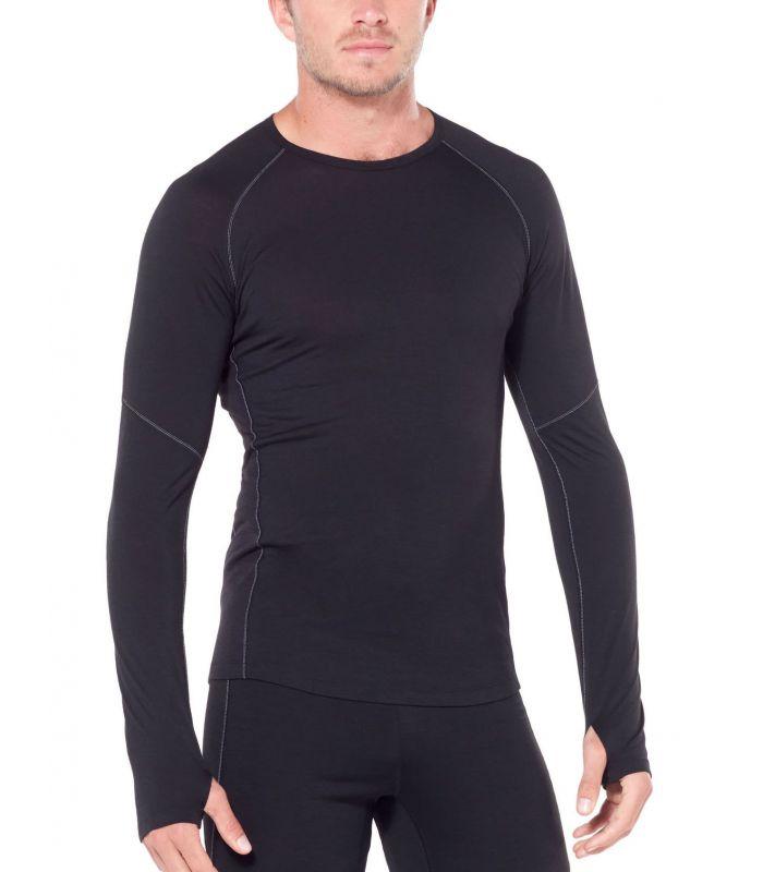 Compra online Camiseta IceBreaker 150 LS Crew Hombre Negro en oferta al mejor precio