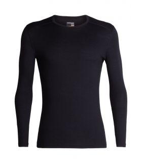 Camiseta IceBreaker 200 Oasis LS Crewe Hombre Negro. Oferta y Comprar online
