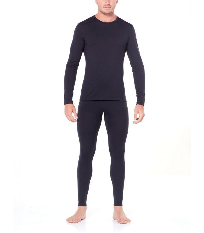 Compra online Camiseta IceBreaker 200 Oasis LS Crewe Hombre Negro en oferta al mejor precio